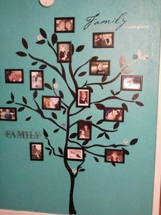 "Cute - I would make the trunk of the tree thicker to signify family ""roots"""