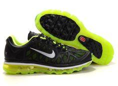 Nike Air Max 2011 Men Shoes Grenadine Black Green  £50.70  Save: 53% off