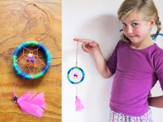 Sweet dreams with this sweet mini dream catcher tutorial from Happythought! https://happythought.co.uk/craft/mini-dreamcatcher-craft-ideas