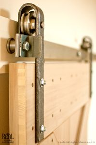 Unfinished Hammered Barn Door Hardware (Raw)
