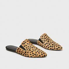 Mule Slide - Leopard Ponyhair