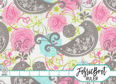 PINK AQUA Gray Paisley BIRD Fabric by the Yard Half Yard or Fat Quarter Floral Fabric Parakeet Quilt Fabric 100% Cotton Apparel Fabric a1-28 by FabricBrat on Etsy https://www.etsy.com/listing/196661746/pink-aqua-gray-paisley-bird-fabric-by