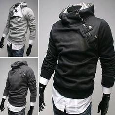 2015 High Collar Dust Coat Hoodie – eDealRetail
