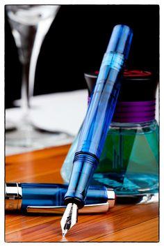 TWSBI Diamond 540 Transparan Yakut Mavisi Tek Dolmakalem - Orta (M) Yazı Ucu #ücretsiz #kargo ile.http://goo.gl/2z6pNB