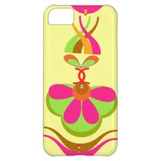 A fabulous retro style flower power image in bright colors of orange, green, brown and pink a great summery sixties look for your phone. #flowers #flower #power #sixties #retro #pattern #bright #orange #pink #green #summer #summery #yellow #fun #funky #cool