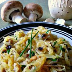 Buttery Garlic, Mushroom and Chive Spaghetti Squash Recipe on Yummly. @yummly #recipe