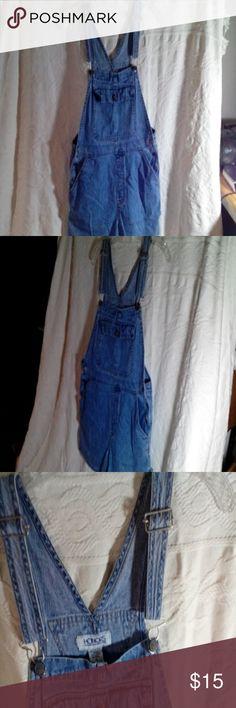 Denim shorts overhauls, medium Medium overhauls, denim Honors Shorts