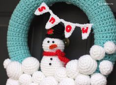 I'm dreaming of some snow this winter. Just enough so my boys can build a snowman in the backyard While I wait for those first few flakes, I decided to make a little bit of a winter wonderland in our house and I'm starting with this crocheted snowball wreath! I have visions of snowball garland …