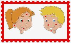 Infantil Mercedarias: las partes de la cara