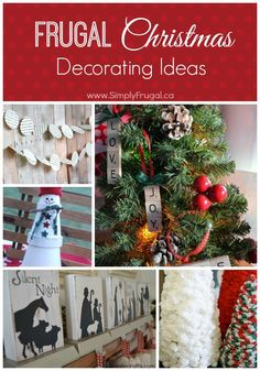 Frugal Christmas Decorating Ideas #christmas #frugalchristmas #budgetchristmas #diychristmas #christmasdecor