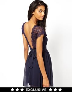 Buy Elise Ryan Lace Skater Dress with Scallop Back at ASOS. Get the latest trends with ASOS now. Lace Dress, Dress Up, Chiffon Dress, Robes D'occasion, Costume, Sammy Dress, Moda Online, Looks Style, Club Dresses