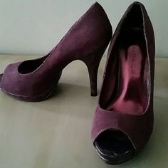 Shoes Plum peep toe pump Rampage Shoes Heels