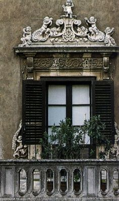 window with ornamentation header
