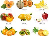 Imagier pour apprendre les noms des fruits