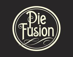 Vintage pie label custom pie round logo charcoal and by Signtific