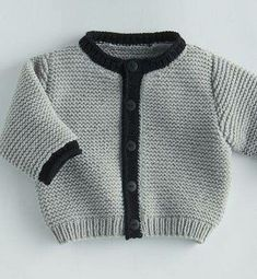 {Traditional and custom newborn baby dress, creates the best solution. Cardigan Bebe, Baby Boy Cardigan, Knitted Baby Cardigan, Knit Baby Sweaters, Baby Vest, Knitting For Kids, Baby Knitting Patterns, Baby Patterns, Pregnancy Fashion Winter