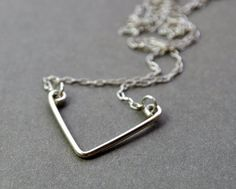Chevron Necklace Short Version Recycled sterling by Epheriell, $47.00