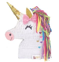 Sale Ready to Ship Unicorn Pinata with Pink Bow Gold Ear Unicorn Birthday Parties, Birthday Party Themes, Girl Birthday, Pony Party, Fete Audrey, Fete Emma, Pinata Party, Unicorn Crafts, Rainbow Birthday