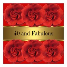 @@@Karri Best price          Elegant Red Flowers Gold Fabulous 40th Custom Invite           Elegant Red Flowers Gold Fabulous 40th Custom Invite online after you search a lot for where to buyReview          Elegant Red Flowers Gold Fabulous 40th Custom Invite Online Secure Check out Quick and Eas...Cleck Hot Deals >>> http://www.zazzle.com/elegant_red_flowers_gold_fabulous_40th_invitation-161044197643378137?rf=238627982471231924&zbar=1&tc=terrest