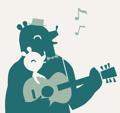 Hyvää Isänpäivää! Happy Father's Day! Illustration by Polkka Jam.