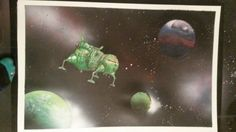 Red dwarf star bug Jamie Tocher space paintings