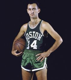 Boston Celtics guard Bob Cousy poses for SI photographer Hy Peskin during a Nov. (Hy Peskin/SI) GALLERY: Classic Photos of the Boston Celtics Celtics Basketball, Basketball Legends, Sports Basketball, Basketball Players, Basketball Jones, Basketball Shirts, College Basketball, Bob Cousy, Larry Bird