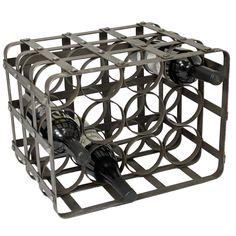 Casa Cortes Industrial 12-Bottle TableTop Metal Wine Rack (Iron Grey)