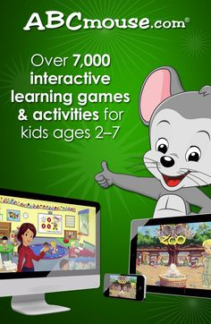 Online preschool, pre-k, kindergarten and first grade for kids 2-7. Learn more at www.ABCmouse.com! #ABCmouse