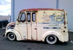Milk truck... Use to have milk delivered by the milkmanwhen I ws a child.
