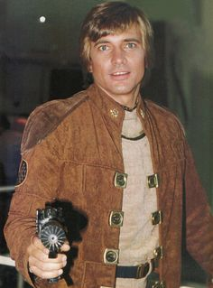 redbishop37:  Dirk Benedict as Starbuck, behind the scenes on Battlestar Galactica (1978).