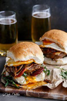 Drunken Aussie Beef Burgers