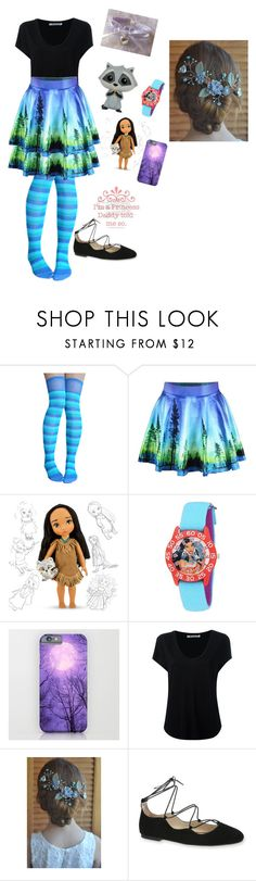 """Pocahontas"" by pinkleopardchick ❤ liked on Polyvore featuring Disney, Alexander Wang and Sam Edelman"