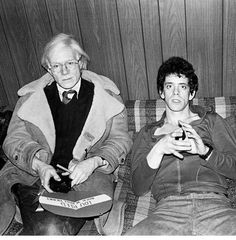 Andy Warhol and Lou Reed. Photo by Mick Rock.
