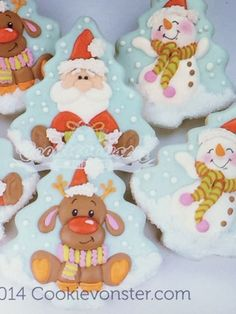 New Ideas For Cookies Christmas Tree Fun Snowman Cookies, Christmas Sugar Cookies, Cute Cookies, Holiday Cookies, Cupcake Cookies, Christmas Deserts, Cool Christmas Trees, Noel Christmas, Christmas Baking