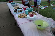 Kappa Phi Rose Tea - Members provide treats and chapter provides drinks.