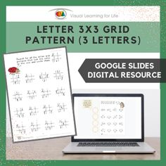 This digitally interactive resource is designed for use with Google Slides. This resource contains 20 slides in total. Answer sheets are included.The student must search for all the letter grid patterns that look the same as the example at the top, and drag the circles to mark the correct answers.