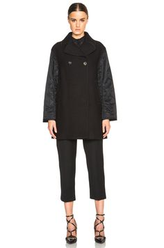 Image 2 of 3.1 phillip lim Quilted Sleeve Peacoat in Black