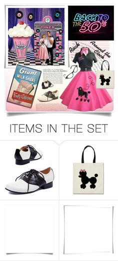 """""""Your Favorite Decade- Saturday Night Date"""" by affton ❤ liked on Polyvore featuring art, fiftiesstyle, poodleskirt and saturdaynightdate"""