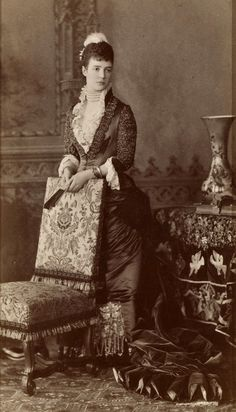 Empress Marie Feodrovona of Russia ~ 1847-1928. The mother of Tsar Nicolas II.