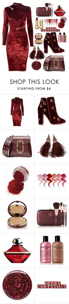 """""""Merry Christma"""" by nicolevalents ❤ liked on Polyvore featuring Agent Provocateur, Aquazzura, Marc Jacobs, Louis Vuitton, Wander Beauty, Charlotte Tilbury, Guerlain, philosophy and Burberry"""