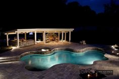 Night-Lighted Pools for Many Moods from Lewis Aquatech