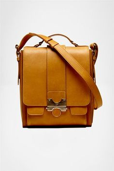 Keller Messenger Leather Bag from DVF. My heart actually skipped a beat when I saw this.