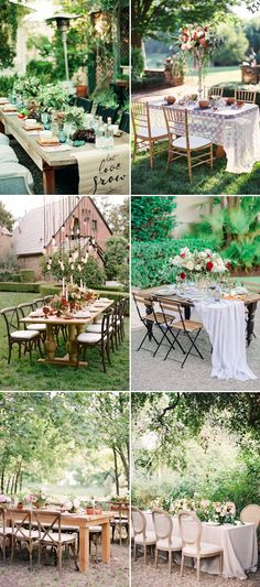Backyard Wedding Table Setting Ideas