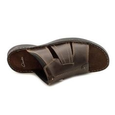 55fa2cd8d8f8a5 Clarks Men s  Swing Around  Leather Sandals. Shoes Outlet