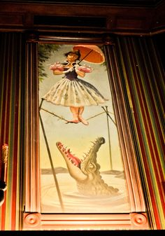 Haunted Mansion stretching room