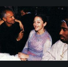 3f116ea19 Tupac Shakur in 1994 with Raquel Welch, Gianni Versace, and Madonna at a  Tribeca dinner party in NYC.