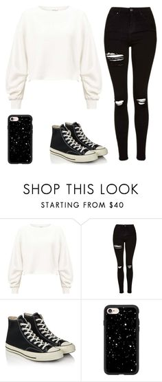 """Untitled #79"" by ejeffrey3 on Polyvore featuring Miss Selfridge, Topshop, Converse and Casetify"