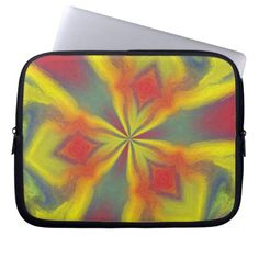 Colorful abstract unique pattern laptop sleeves