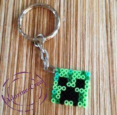MInecraft keyring hama mini beads by Adorine-crea