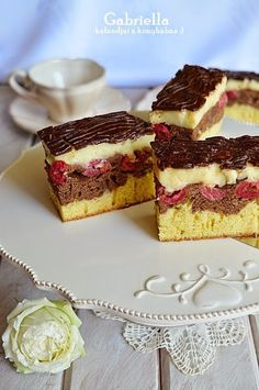 Hungarian Desserts, Hungarian Recipes, Cheesecake, Cooking Recipes, Tasty, Food, Dune, Sheet Cakes, Easy Meals